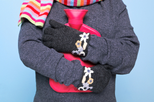 Hot water bottle and winter woolies